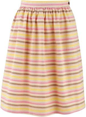 People Tree Brooke stripe gather skirt
