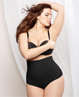 Maidenform Plus Size Fat-Free Dressing Firm Control High Waist Brief 11854 $33 thestylecure.com