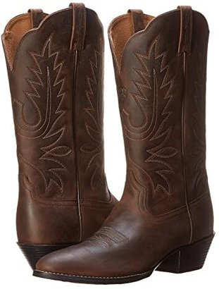 Ariat Heritage Western R Toe (Distressed Brown) Women's Boots