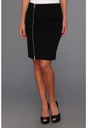 Vince Camuto Front Zip Pencil Skirt (Rich Black) - Apparel