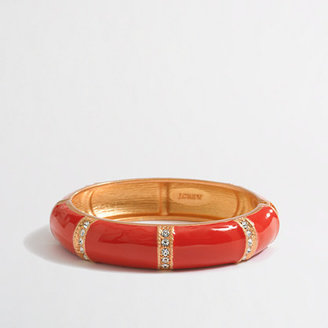 J.Crew Factory Factory crystal and enamel bangle