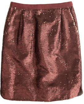 J.Crew Shirttail mini in sequins