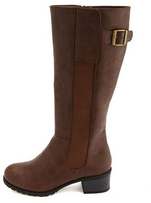 Charlotte Russe Buckled Side Gusset Boot