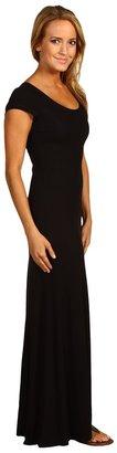 BCBGMAXAZRIA Cap Sleeve Maxi Dress
