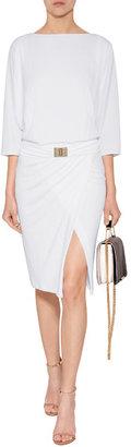 Emilio Pucci Dolman Sleeve Dress in White