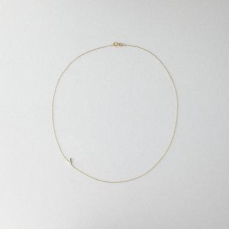 Maya Brenner DESIGNS asymmetrical mini letter necklace - v