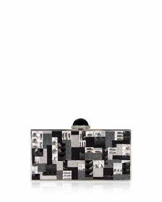 Judith Leiber Couture Perfect Rectangle Crystal Clutch Bag, Silver Multi $3,995 thestylecure.com