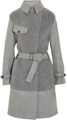 Pringle Cotton-knit and wool-felt coat