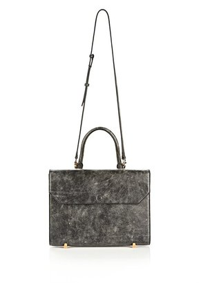 Alexander Wang Chastity Sling In Distressed Black With Yellow Gold