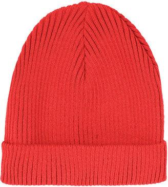 Topshop Rust Turnup Beanie Hat