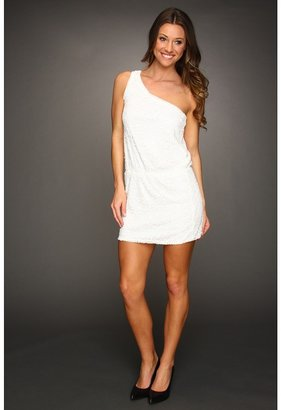 Max & Cleo Andrea One Shoulder Sequin Dress (White) - Apparel