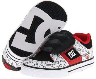 DC Kids - Pure V WG (Infant/Toddler) (Black/White/Athletic Red) - Footwear