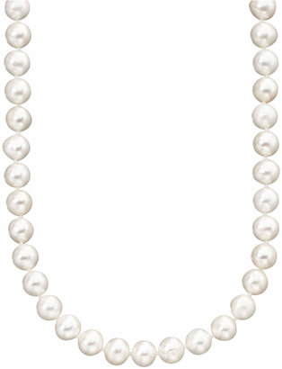 "Belle de Mer Pearl Necklace, 18"" 14k Gold Cultured Freshwater Pearl Strand (6-7mm)"