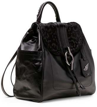 Diane von Furstenberg Sutra Burnout Leopard Haircalf Backpack