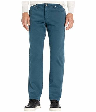 AG Adriano Goldschmied Graduate Tailored Straight Sueded Stretch Sateen (Downpour) Men's Casual Pants