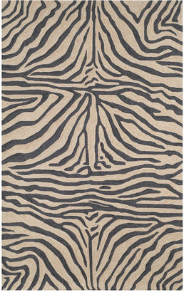 Liora Manné Area Rug, Indoor/Outdoor Promenade 2033/48 Zebra Black 2' x 8' Runner Rug