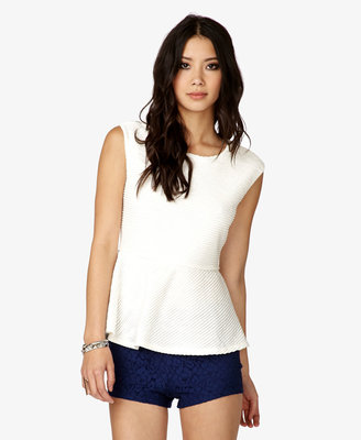 Forever 21 Classic Pleated Peplum Top