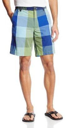Izod Men's Yarn Dyed Large Plaid Flat Front Shorts