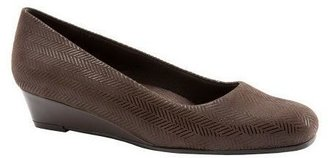 Trotters Leather Wedge Slip Ons - Lauren