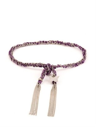 Carolina Bucci Gold & silk braided Lucky bracelet
