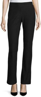 Eileen Fisher Washable-Crepe Boot-Cut Pants, Black $168 thestylecure.com