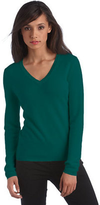 Lord & Taylor Fall Brights Collection Cashmere V-Neck Sweater