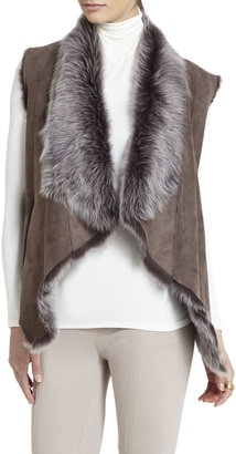 BCBGMAXAZRIA Sierra Shearling Reversible Vest
