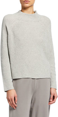 Eileen Fisher Organic Cotton Funnel-Neck Box Top