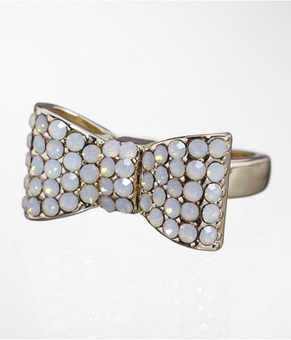 Express Pave Bow Ring