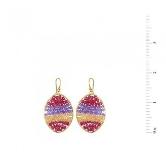Wendy Mink Ruby & Amethyst Ellipse Earrings