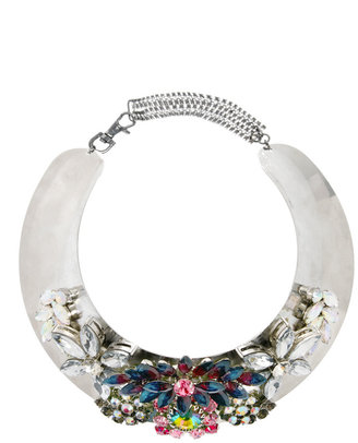 Asos Jewel Encrusted Torque Necklace