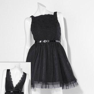Vera Wang Princess lace fit & flare dress - juniors
