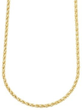 """Italian Gold 14k Gold Necklace, 30"""" Twist Rope Polished Chain (3mm)"""