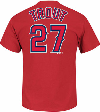 Majestic Men Mike Trout Los Angeles Angels of Anaheim Official Player T-Shirt