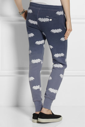 Zoe Karssen Bat-print cotton-blend track pants