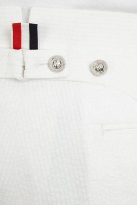 Thom Browne Seersucker Cuffed Trousers