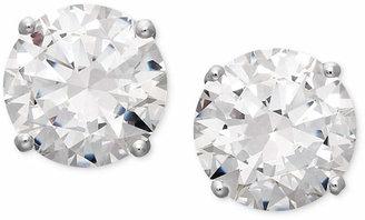 Arabella 14k White Gold Earrings, Swarovski Zirconia Round Stud Earrings (3-1/2 ct. t.w.)