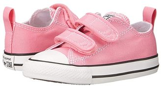 Converse Chuck Taylor 2V Ox (Infant/Toddler) (Pink) Girls Shoes