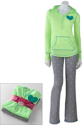 So ® pajamas: waffle-knit pajama set - juniors