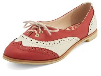 Charlotte Russe Lace-Up Oxford Skimmer Flat