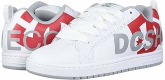 DC Court Graffik SE (White/Red/Grey) Men's Skate Shoes