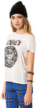 Obey The Rocket to Nowhere Tee in Dust Light Grey