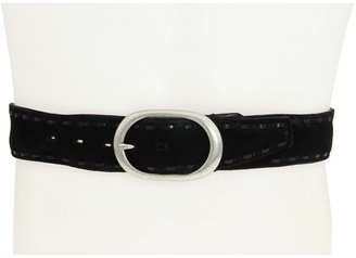John Varvatos 40MM Flat Strap w/ Lacing (Black) - Apparel