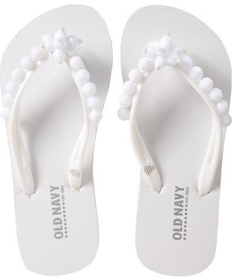 Old Navy Girls Beaded Flip-Flops