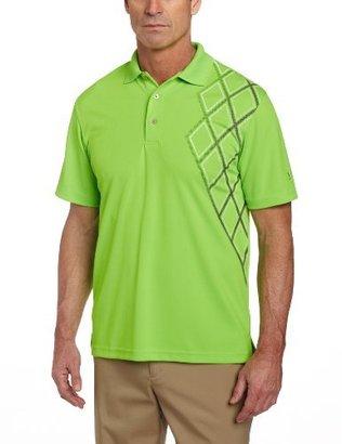 PGA TOUR Men's Short Sleeve Asymetric Gradient Printed Polo Shirt