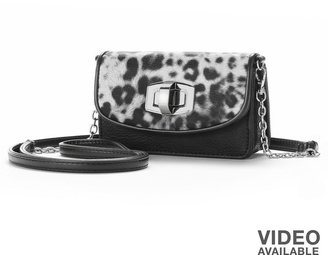 Apt. 9 gina gusseted leopard convertible wristlet