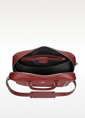 Pineider City Chic Large Burgundy Double Handles Leather Tote