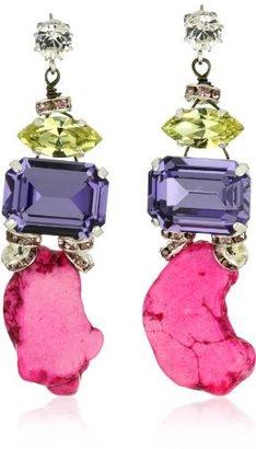 "Tova Jewelry"" Neon brights ""Hot Pink Agate Earrings"
