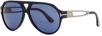 Tom Ford Paul Navy Aviator-style Sunglasses