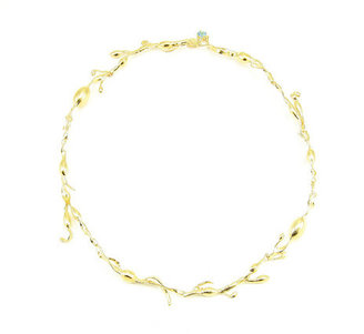 Salty Girl Jewelry Rockweed Necklace Gold Plate